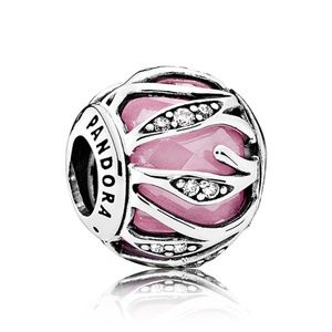 Pandora Pink Abstract Leaves Charm 791969PCZ